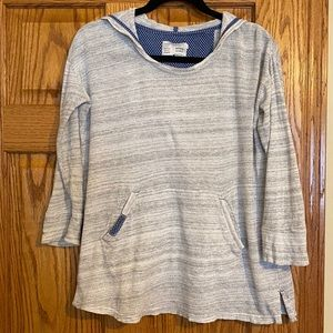 Anthropologie Saturday Sunday Grey Hoodie Top
